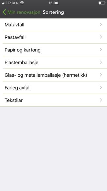 App sortering