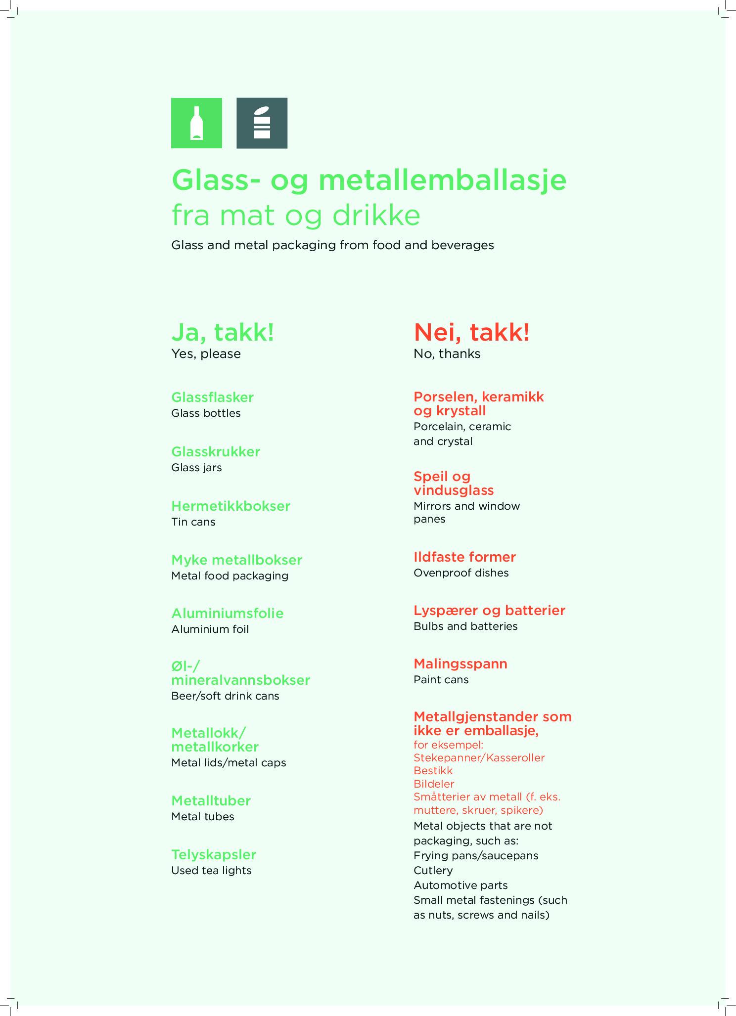 Glass- og metallemballasje