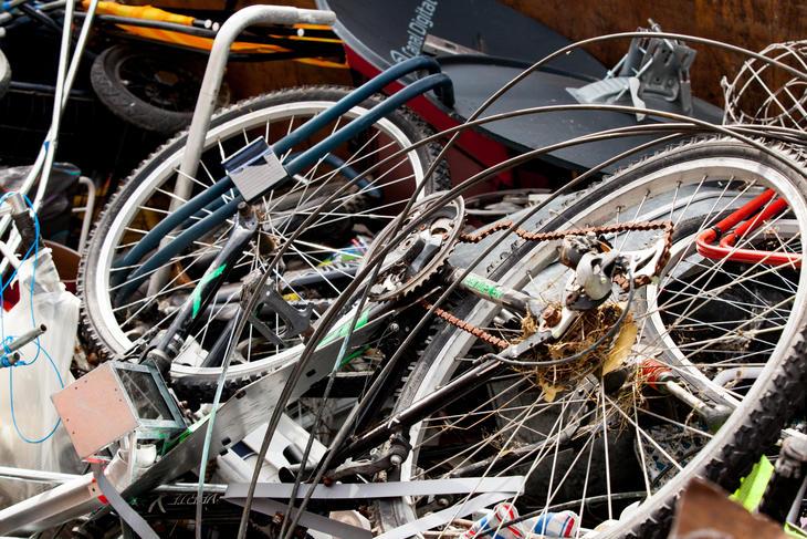 avfallshåntering gamle sykler