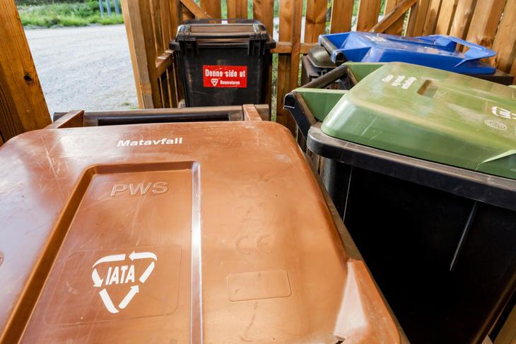 restavfall søppeldunker